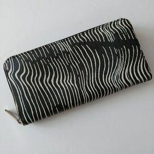Fossil Zebra Print Wallet Clutch